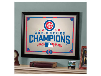 Chicago Cubs MLB WS Champ 16 Team Framed Mirror