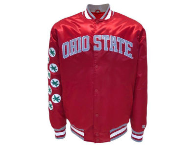 Ohio State Buckeyes Starter NCAA Men's Helmet Sticker Satin Varsity Jacket