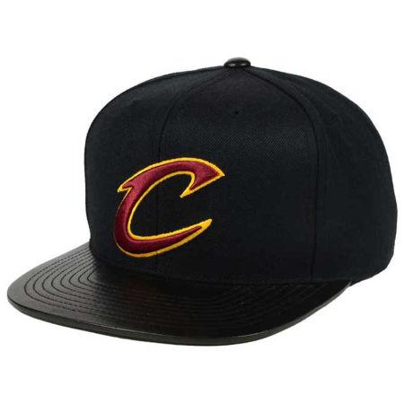 Cleveland Cavaliers Mitchell & Ness NBA Leather Viz Snapback Cap