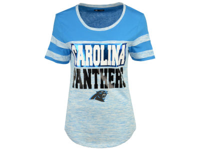 Carolina Panthers 5th & Ocean NFL Women's Space Dye Foil T-Shirt