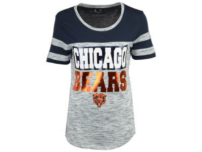 Chicago Bears 5th & Ocean NFL Women's Space Dye Foil T-Shirt