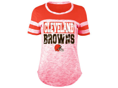 Cleveland Browns 5th & Ocean NFL Women's Space Dye Foil T-Shirt