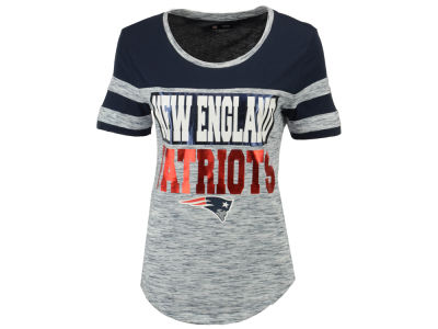 New England Patriots 5th & Ocean NFL Women's Space Dye Foil T-Shirt