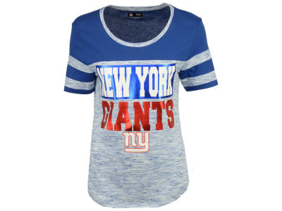 New York Giants 5th & Ocean NFL Women's Space Dye Foil T-Shirt