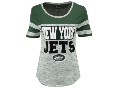 New York Jets 5th & Ocean NFL Women's Space Dye Foil T-Shirt