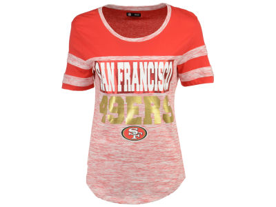 San Francisco 49ers 5th & Ocean NFL Women's Space Dye Foil T-Shirt