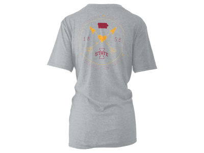 Iowa State Cyclones Pressbox NCAA Women's Boho Arrow Melange T-Shirt