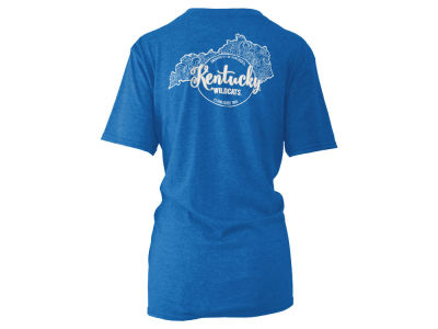 Kentucky Wildcats Pressbox NCAA Women's Curls & Lace Melange T-Shirt