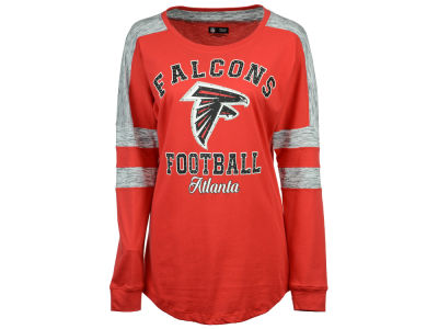 Atlanta Falcons 5th & Ocean NFL Women's Space Dye Long Sleeve T-Shirt