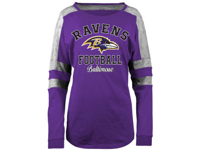 Baltimore Ravens 5th & Ocean NFL Women's Space Dye Long Sleeve T-Shirt