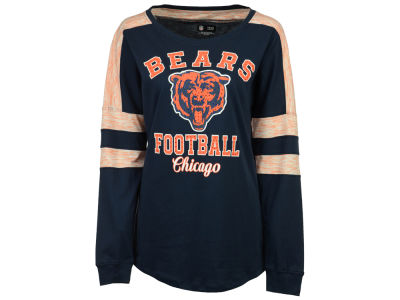 Chicago Bears 5th & Ocean NFL Women's Space Dye Long Sleeve T-Shirt