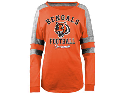 Cincinnati Bengals 5th & Ocean NFL Women's Space Dye Long Sleeve T-Shirt