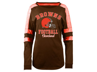 Cleveland Browns 5th & Ocean NFL Women's Space Dye Long Sleeve T-Shirt