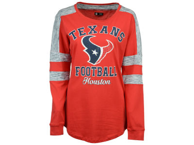 Houston Texans 5th & Ocean NFL Women's Space Dye Long Sleeve T-Shirt