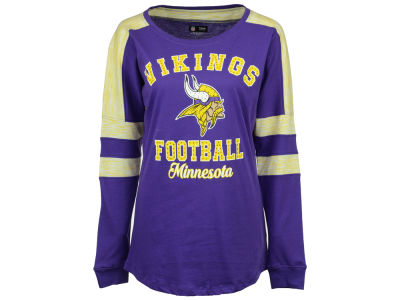 Minnesota Vikings 5th & Ocean NFL Women's Space Dye Long Sleeve T-Shirt