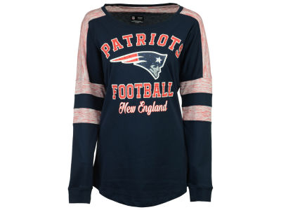 New England Patriots 5th & Ocean NFL Women's Space Dye Long Sleeve T-Shirt