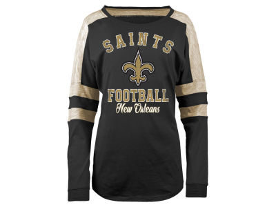 New Orleans Saints 5th & Ocean NFL Women's Space Dye Long Sleeve T-Shirt
