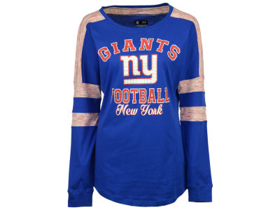 New York Giants 5th & Ocean NFL Women's Space Dye Long Sleeve T-Shirt