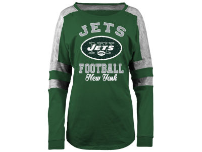 New York Jets 5th & Ocean NFL Women's Space Dye Long Sleeve T-Shirt