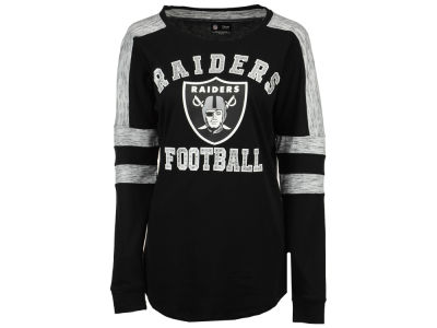 Oakland Raiders 5th & Ocean NFL Women's Space Dye Long Sleeve T-Shirt