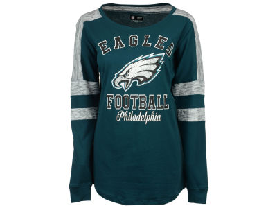 Philadelphia Eagles 5th & Ocean NFL Women's Space Dye Long Sleeve T-Shirt