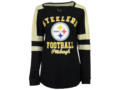 Pittsburgh Steelers 5th & Ocean NFL Women's Space Dye Long Sleeve T-Shirt
