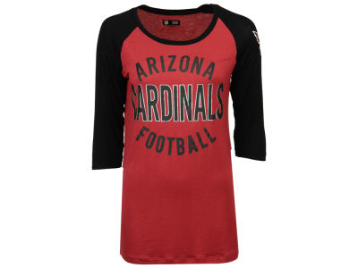 Arizona Cardinals 5th & Ocean NFL Women's Rayon Raglan T-shirt