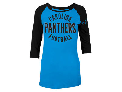 Carolina Panthers 5th & Ocean NFL Women's Rayon Raglan T-shirt
