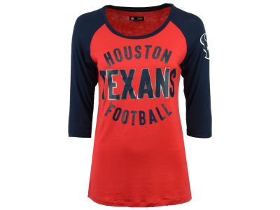 Houston Texans 5th & Ocean NFL Women's Rayon Raglan T-shirt