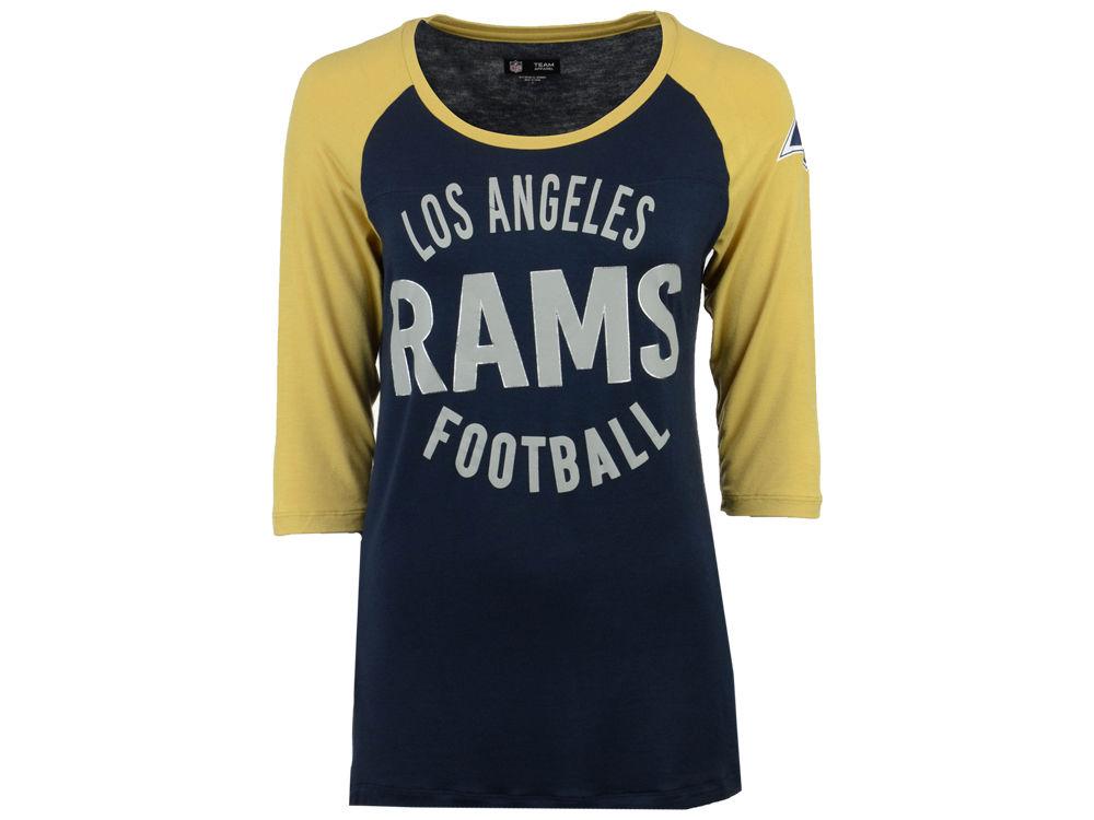 Los Angeles Rams 5th   Ocean NFL Women s Rayon Raglan T-shirt  7c92a27ead