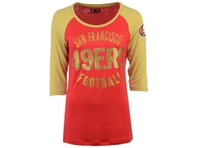 San Francisco 49ers 5th & Ocean NFL Women's Rayon Raglan T-shirt