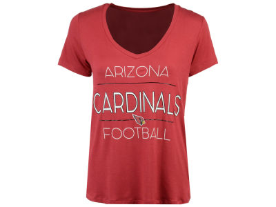 Arizona Cardinals 5th & Ocean NFL Women's Rayon V T-Shirt