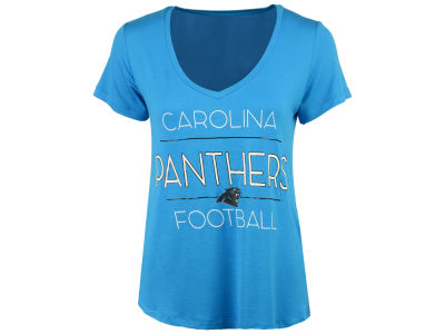 Carolina Panthers 5th & Ocean NFL Women's Rayon V T-Shirt