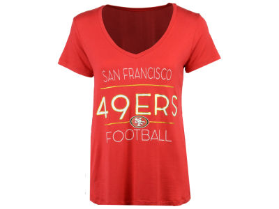 San Francisco 49ers 5th & Ocean NFL Women's Rayon V T-Shirt