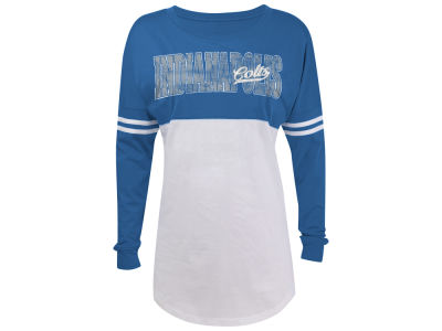 Indianapolis Colts 5th & Ocean NFL Women's Sweeper Long Sleeve T-Shirt