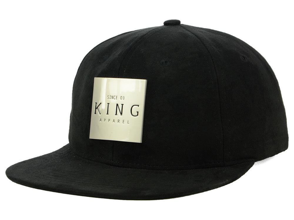 King Apparel Inscript Suede Snapback Cap  a103a248463