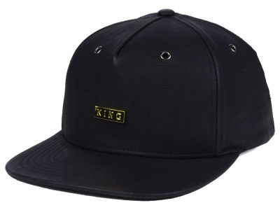 King Apparel Lux Leather Strapback Cap