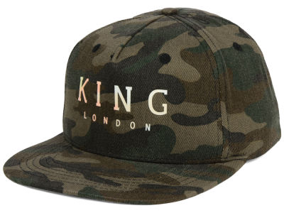 King Apparel King London Camo Snapback Cap