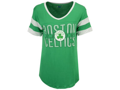 Boston Celtics 5th & Ocean NBA Women's Hang Time Glitter T-Shirt