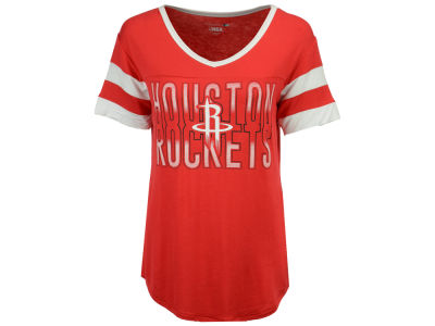 Houston Rockets 5th & Ocean NBA Women's Hang Time Glitter T-Shirt