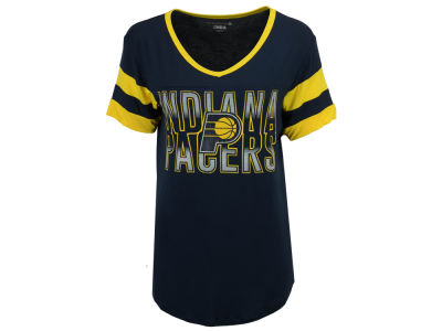 Indiana Pacers 5th & Ocean NBA Women's Hang Time Glitter T-Shirt