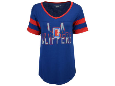Los Angeles Clippers 5th & Ocean NBA Women's Hang Time Glitter T-Shirt