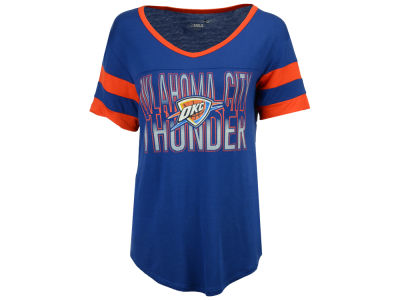Oklahoma City Thunder 5th & Ocean NBA Women's Hang Time Glitter T-Shirt