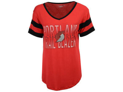 Portland Trail Blazers 5th & Ocean NBA Women's Hang Time Glitter T-Shirt