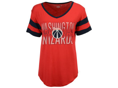 Washington Wizards 5th & Ocean NBA Women's Hang Time Glitter T-Shirt