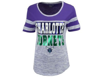 Charlotte Hornets 5th & Ocean NBA Women's Space Dye Foil T-Shirt