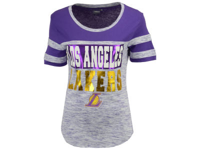 Los Angeles Lakers 5th & Ocean NBA Women's Space Dye Foil T-Shirt