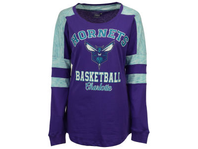 Charlotte Hornets 5th & Ocean NBA Women's Space Dye Long Sleeve T-Shirt