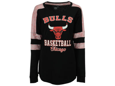 Chicago Bulls 5th & Ocean NBA Women's Space Dye Long Sleeve T-Shirt