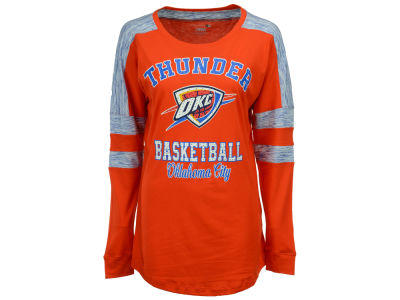 Oklahoma City Thunder 5th & Ocean NBA Women's Space Dye Long Sleeve T-Shirt